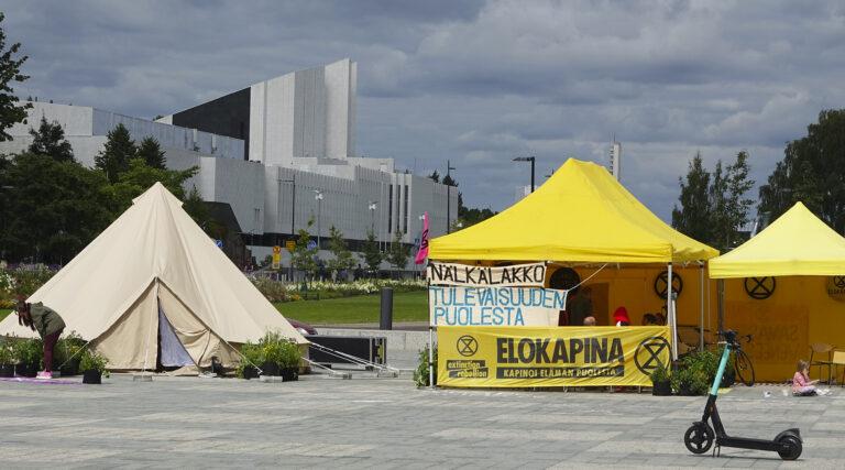 Elokapina aktivistien ilmasto-nälkälakko
