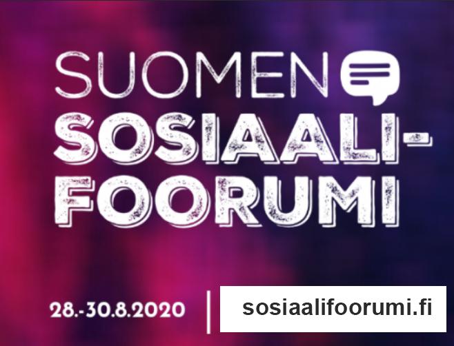 Suomen Sosiaalifoorumi on verkossa 28.–30.8.
